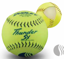 "Dudley Thunder SY 11"" USSSA Classic W Slow Pitch Yellow Softball - per dozen"
