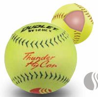 Dudley USSSA Thunder Hycon - Classic Plus Stamp Slow Pitch Softball - Composite Cover - per dozen