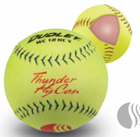 Dudley USSSA Thunder Hycon Classic Stamp Slow Pitch Softball - ZN Composite Cover - per dozen