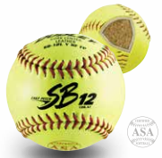 Dudley ASA SB 12L Fast Pitch Softball - per dozen