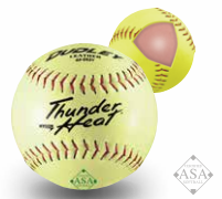 "Dudley 12"" ASA Thunder Heat Synthetic Slow Pitch Softball - per dozen"