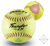 "Dudley 12"" Thunder ZN Hycon ASA Composite Slowpitch Softball - per dozen"