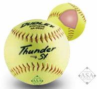 "Dudley 12"" ASA Thunder Hycon Slow Pitch Synthetic Ball - per dozen"