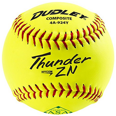 "Dudley 11"" Thunder Hycon ZN ASA Composite Cover Slowpitch Softball - per dozen"