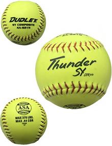 "Dudley 12"" ASA Thunder SY Slow Pitch Synthetic Soft Ball - per dozen"