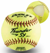 "Dudley 11"" Thunder SY Slowpitch Leather Cover Softball - per dozen"