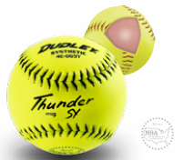 Dudley NSA Thunder SY Hycon 0.52 Slowpitch Synthetic Cover Softball - per dozen