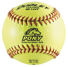 """Dudley Pony League Softballs 11"""" or 12"""" Leather Cover"""