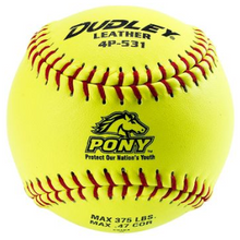 "Dudley 11"" Pony League Leather Fastpitch Softball - per dozen"