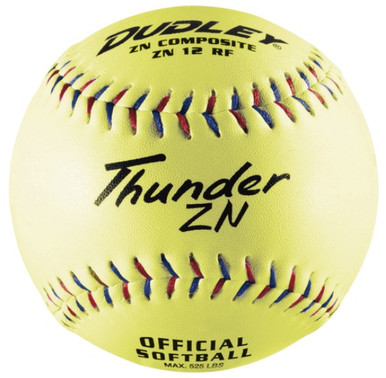 Spalding/Dudley NON-ASSOCIATION THUNDER ZN SLOWPITCH SOFTBALL - per dozen