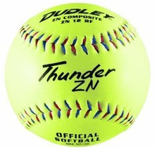 Spalding/Dudley Non-Association Thunder ZN 525 Com. Slowpitch Softball - per dozen