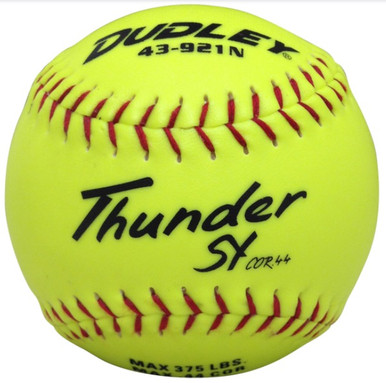 "Spalding/Dudley NON-ASSOCIATION THUNDER SY SLOWPITCH 12"" SOFTBALL - per dozen"