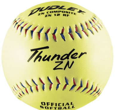 Spalding/Dudley Non-Association Thunder ZN 375 Com. Softball - per dozen
