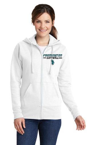 Ladies Core Fleece Full-Zip Hoodie