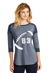 New Era  Football Mom 3/4-Sleeve Raglan Tee