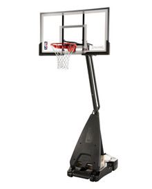 "Spalding - ULTIMATE HYBRID 54"" Glass  portable system"