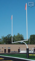 "Gared Redzone 4-1/2"" O.D. High School Football Goalposts"