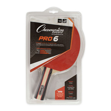 Champion 7 PLY PIPS OUT RUBBER FACE TABLE TENNIS PADDLE