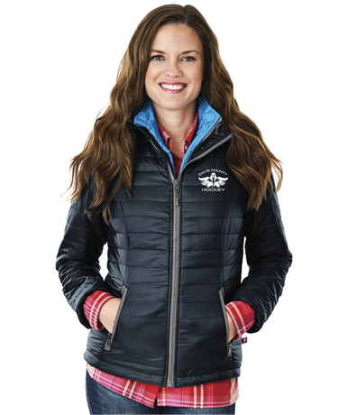 DCI WOMEN'S QUILTED JACKET - NAVY