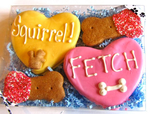 Sayings on hearts vary and may include K9 Valentine, Your Doghouse or Mine?  BFF, Pet Me, Paws n Kisses, Friends Furever...and whatever other quirky sayings are in stock.