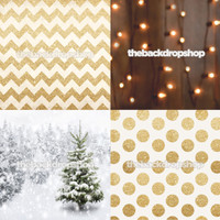 Four Pack Combo for Less - 4 Photography Backdrops - Items 1984, 2137, 2147 & 2120 - As Seen or Mix and Match