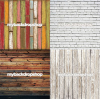 Four Pack Combo for Less - 4 Photography Backdrops - Items 894, 1444, 384 & 1371 - As Seen or Mix and Match