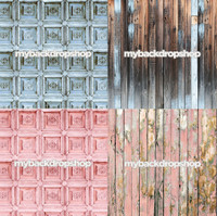 Four Pack Combo for Less - 4 Photography Backdrops - Items 1882, 1888, 1880 & 1796 - As Seen or Mix and Match
