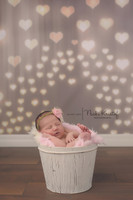 Bokeh Hearts Photography Backdrop - Heart Lights Backdrop - Valentine's Day Photography Backdrop – Item 2158