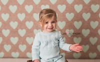Mint Green Hearts Burlap Photography Backdrop - Item 2241