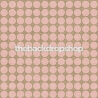 Pink Dots on Burlap Photography Backdrop - Item 2246