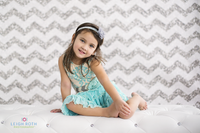 Silver Glitter Chevron Photography Backdrop – Item 2167