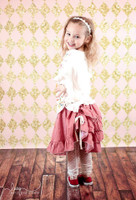 Pink and Gold Glitter Harlequin Tile Backdrop for Girls - Item 2211