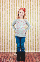 Pink and Gold Glitter Stripe Photography Backdrop  for Girls - Item 2217