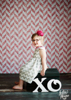 Pink Glitter Herringbone Photography Backdrop for Girls - Item 2269
