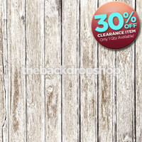 CLEARANCE - VINYL 5ft x 5ft Faded White Wood Floor Drop for Photography - Whitewashed Wood Photo Backdrop - Item 1371