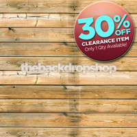 CLEARANCE - VINYL 5ft x 5ft Wood Floor Backdrop - Old Barnwood Floordrop for Photographers - Item 165