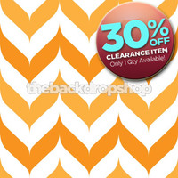 CLEARANCE - VINYL - 7ft x 7ft Orange Chevron Photography Backdrop - Halloween Backdrop - Fall Photography Backdrop - Item 1286