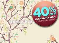 CLEARANCE - CANVAS - 7ft x 5ft Birds in Trees Photography Backdrop - Item 1832