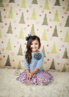 Vintage Christmas Tree Wrapping Paper Photography Backdrop -  Item 5502