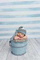 Pastel Blue and White Watercolor Stripe Photography Backdrop - Item 3048
