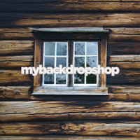 Log Cabin Wood Window Photography Backrop - Item 3055