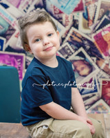 Postal Stamp Photography Backdrop - Instagram Photo Backdrop - Item 3063
