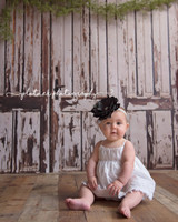 Brown and dusty White Doors Photo Prop - Brown Door Photography Backdrop - Item 3065