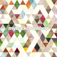 Colorful Watercolor Abstract Neutral Kaleidoscope Backdrop for Photos - Item 3091