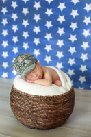 Fourth of July Star Photography Backdrop - Blue and White Star Photo Prop - Item 3122