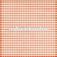 Red Plaid Tablecloth Photography Backdrop - Picnic Photography Session Backdrop - Item 3133