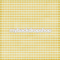Distressed Yellow Plaid Tablecloth Photography Backdrop - Picnic Photography Session Backdrop - Item 3134