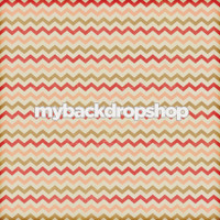 Distressed Pink and Red Chevron Photography Backdrop - Brown and Pink Zig Zag Backdrop - Item 3138