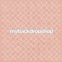 Dusty Pink Tile Photography Backdrop - Distressed Quatrefoil Photo Prop - Item 3144