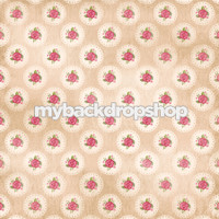 Vintage Pink Floral Photography Backdrop - Pink Rose Wallpaper Photo Backdrop - Item 3151